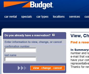 View, Change or Cancel an Existing Budget Hawaii Car Rental Reservation