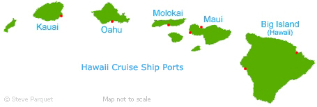 Hawaii Map of Ports